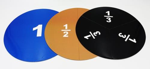 """Набор """"Дробные части круга и квадрата"""" магнитный. (ДЕМОНСТРАЦИОННЫЙ) Новинка 2020 года!"""