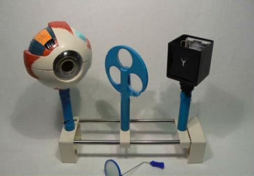Прибор для демонстрации действия глаза (Модель Зрения, батарейки)