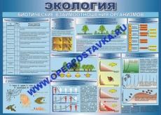 """Виниловая таблица """"Биотические взаимоотношения организмов"""" 100х140 см"""