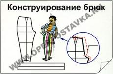 """Фолии """"Конструирование брюк"""""""