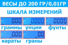 Весы лабораторные электронные до 200 грамм. Точность 0,01гр.