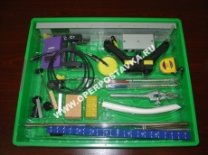 Микролаборатория (набор) по механике с электронным секундомером и двумя оптодатчиками
