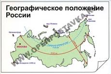 """Фолии """"Географическое положение России"""""""