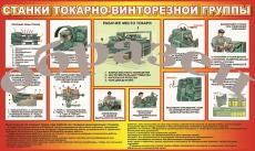 """Виниловая таблица """"Станки токарно-винторезной группы"""" формат 100х140 см"""