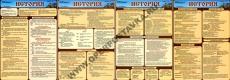 Раздаточные таблицы по истории А4, лам. 4шт