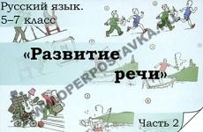 """Комплект транспарантов """"Русский язык в 5-7 классах. Развитие речи."""""""