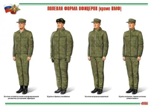 """Комплект плакатов """"Военная форма одежды"""" - 22 плаката, 29,5х21 см"""